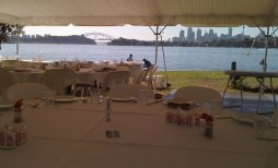 Wedding setup at Clarkes Point (Hunters Hill)