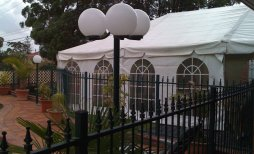 Wedding at Peakhurst, Marquee with silk lining